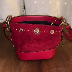 TOPSHOP Red Crossbody Purse with Cinched Closure